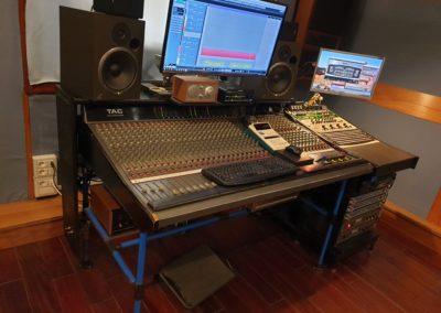 Postazione mixer dopo