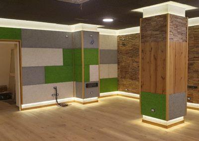 Prospettiva parete legno